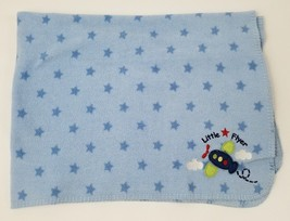 Circo Little Flyer Baby Boy Security Blanket Blue Fleece Airplane Stars ... - $284,70 MXN