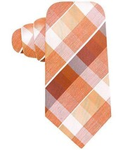 Alfani Spectrum Silk Tortola Grid Woven Necktie, Orange MSRP $49.50 - $16.34