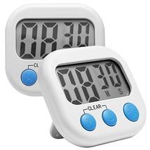 Comsun 2 Pack Timers for Cooking, Digital Kitchen Cooking Timer, Big Dig... - $9.39