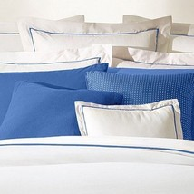 Ralph Lauren 100% Cotton Palmer Percale King Duvet Cover - WhiteFrench B... - $108.78