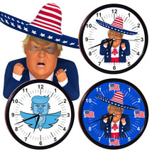 2020 Donald Trump Battery Operated Wall Clock Modern Design For Home Dec... - $12.59