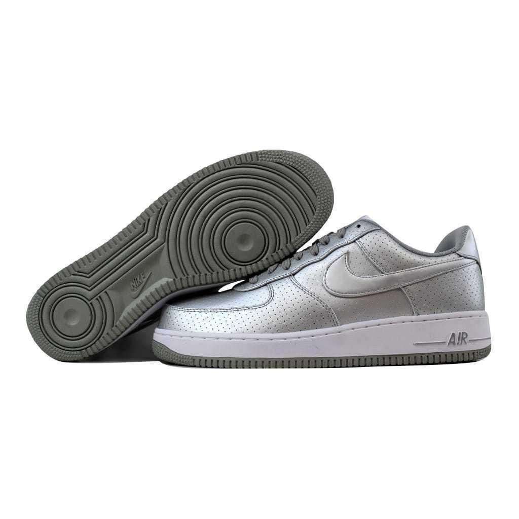 6022c89cdc2da Nike Air Force 1  07 LV8 Metallic Silver Metallic Silver-Wht 718152-013 SZ  10.5