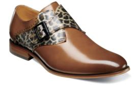 Stacy Adams Sutcliff Plain Toe Monk Strap Shoes Cognac Multi  25307-229 - €82,07 EUR