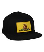 Don't Tread On Me Snapback Hat - Black, Gadsden Flag, US Military - £17.26 GBP