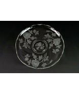 """Heisey Rose Etch Large Torte Tray, Vintage Elegant Etched Superb 13 3/4""""... - $29.40"""
