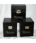 3 New Dictador Colombian Rum Smoking Carriage Wooden Boxes - $74.20