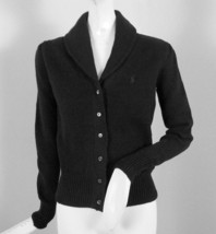 NEW! NWT! Polo Ralph Lauren Womens Cardigan Sweater!  Black, Creme  *Run small* - $89.99
