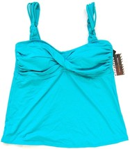 Dana Buchman Swim Tankini Swimwear Top Padded Twisted Braided Blue Sz 8 ... - $14.99