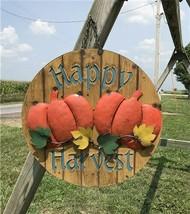 3D Metal Happy Harvest Sign, Fall Decor Sign, Pumpkin Sign, Fall Decorat... - $99.00