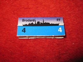 1988 The Hunt for Red October Board Game Piece: Brodsrd Blue Ship Tab- NATO - $1.00