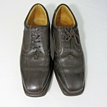 Bostonian Men's Shoes Brown Size 8.5 Oxfords Pebbled Leather Bicycle Toe - $37.09