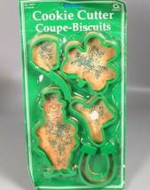 Vintage St Patricks Day cookie cutters 5 Leprechaun 4 leaf clover pipe h... - $24.99