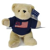 VTG Ralph Lauren Polo Sport Teddy Bear Plush 1996 W/ Hang Tag USA Flag S... - $36.63