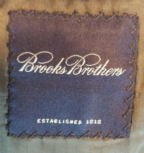 Brooks Brothers blazer 40 charcoal gray pinstripe wool