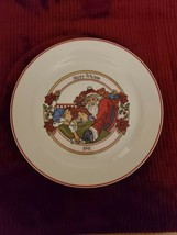 Vintage Collector's 1991 Corning Corelle HAPPY HOLIDAYS Dinner Plate Santa  - $9.99
