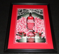 2005 Absolut Raspberry Vodka Framed 11x14 ORIGINAL Advertisement - $32.36
