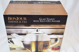 BonJour  23.7-Oz. Glass Teapot with Flavor-Lock Shut off Infuser Stainle... - $29.44