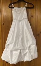 Davids Bridal White Beaded Flower Girl Dress Size 6 - $43.54