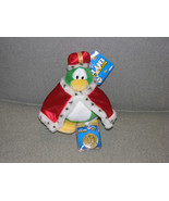 Club Penguin King Roi Disney Store Green Red Cape Crown Plush With Code ... - $34.79