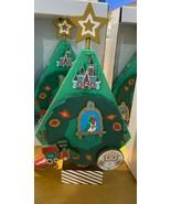 NEW Disney World Wooden Wind Up Music Christmas Tree Small World Tiki Tr... - $69.29