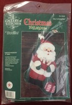 "Bucilla Santa's Pockets ~ 15"" Felt Christmas Stocking Kit  #32966 NEW - $21.55"