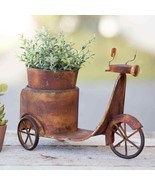 Primitive RUSTY SCOOTER PLANTER Country Rustic Farm Flower Pot Garden Ho... - $60.74 CAD