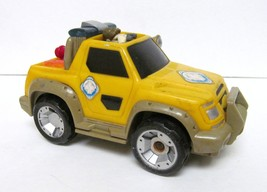 """VINTAGE YELLOW MATCHBOX RESCUE JEEP DRIVER WCAM BATTERY COMPARTMENT 5.5""""... - $14.95"""