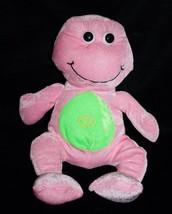 "Kellytoy FROG 13"" Thin Pink Plush Green Swirl Tummy Soft Toy Stuffed Animal '11 - $12.57"