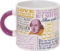 Shakespeare Love Coffee Mug - Shakespeare's Most Famous Quotes About Lov... - $23.72