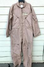 Nwt Genuine Us Air Force Tan Nomex Fire Resistant Flight Suit CWU-27/P - 50L. - $123.75