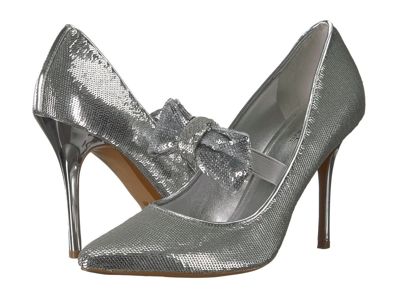Primary image for MICHAEL Michael Kors Paris Pump Silver Sequin Size 7