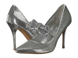 MICHAEL Michael Kors Paris Pump Silver Sequin Size 7 - $64.99
