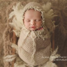 Baby Photography Props Lace Wrap Stretch Fluffysoft Blanket Newborn 40*80cm