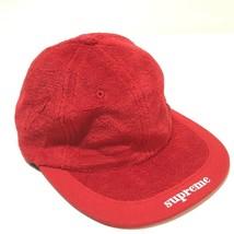 b17b9503 AUTHENTIC UNUSED SUPREME Cap Terry Pile Visor Logo Hat Red - £134.15 GBP