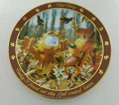 Garfield Collector Plate Dear Diary Series by Jim Davis God Created Leaves - $14.73