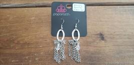 Paparazzi Earrings (New) #547 Alluring Beauty Silver - $8.58