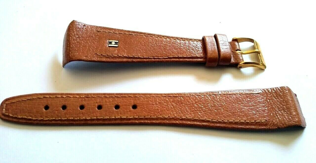 "Primary image for Vintage NOS Hirsch 20mm Brown Watch Band ""Wild Boar"" Stitched 14mm g/p Buckle"