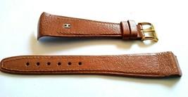 """Vintage NOS Hirsch 20mm Brown Watch Band """"Wild Boar"""" Stitched 14mm g/p Buckle - $19.99"""