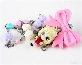 Shiemi Pastel Necklace, Fairy Kei, Anime Jewelry, Kawaii - $26.00