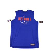 Neuf Nike NBA Authentics Detroit Pistons Équipe Édité Chemise sans Manch... - $13.44