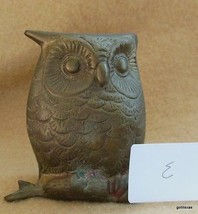 "Vintage Mid Century Owl on Branch Brass India 2.75"" E - $14.00"