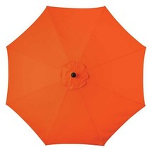 Orange Glow 9 Foot Deluxe Patio Umbrella Crank Tilt White or Bronze Frame - $231.26 CAD