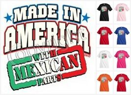 MADE IN AMERICA WITH MEXICAN PARTS T-shirt Children Kids Unisex Funny KP109 - $12.99