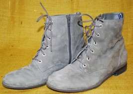SPERRY TOP-SIDER Adeline Ankle Bootie Lace-Up Boots Sz 10M Gray Leather ... - $59.39