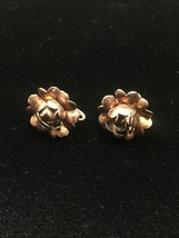 Vintage 50s golden rose screw back earrings