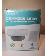 Vive 24 Pack of Commode Liners with Absorbent Pad - Disposable Replacement Ba... - $29.99
