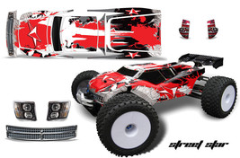 Rc Grafik Kit Abziehbild Wrap für Jconcepts Punisher RC8T Illuzion Ststar R - $29.72
