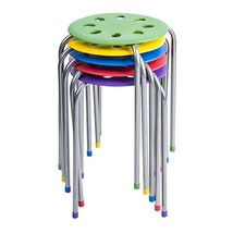 Pearington Kids Classroom & Home Steel Stacking Stool, Multi-Color Pack 5 - $75.22