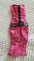PINK PUNK BARBIE SIZE STRAPLESS PANTSUIT,LABEL REMOVED,GLITTER,PONYTAIL ... - $7.56