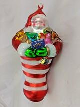 """Department 56 Handblown Glass Santa Claus Ornament 8"""" 1997 - $7.95"""